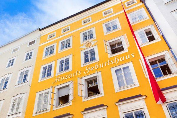 Mozart Geburtshaus in Salzburg –Ausflugsziele im Salzburger Land